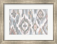 Framed Ikat Jewel I blush grey