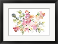 Framed Shades of Pink Watercolor Floral