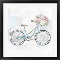 Framed Vintage Bike With Flower Basket I