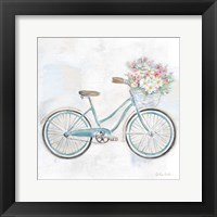 Framed Vintage Bike With Flower Basket I