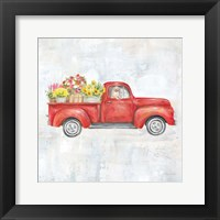 Framed Vintage Red Truck