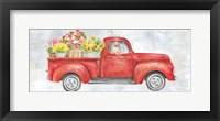 Framed Vintage Red Truck Panel