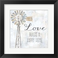 Framed Windmill Love Sentiment