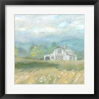 Framed Country Meadow Farmhouse