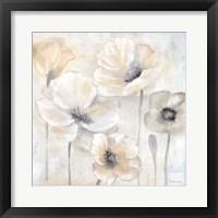 Framed Gray Poppy Garden II