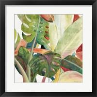 Framed Tropical Lush Garden square I