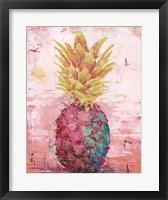 Framed Painted Pineapple I
