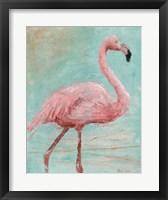 Framed Pink Flamingo I