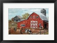 Framed Red Country Barn