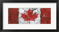 Framed Canada Maple Leaf Landscape