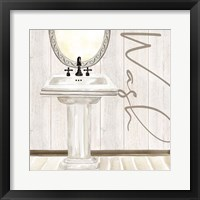 Framed Rustic Bath I Wash