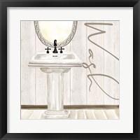 Framed Rustic Bath I Wash