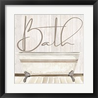 Framed Rustic Bath II Bath