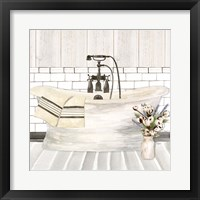 Farmhouse Bath I Tub Framed Print