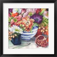 Framed Vibrant Bouquet Still Life