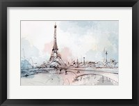 Framed Blushing Paris