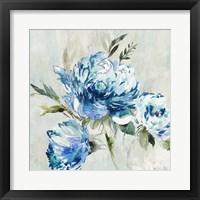 Framed Blue Peony I