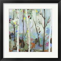 Framed Birchwood Forest