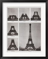 Framed Eiffel Tower Construction