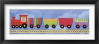 Framed Rainbow Train