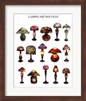 Framed Lampes Art Nouveau