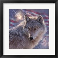 Framed Lone Wolf America