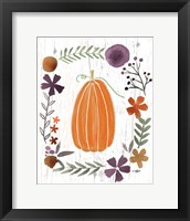 Framed Autumn Pumpkin
