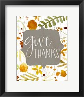 Framed Give Thanks II