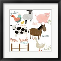 Framed Farm Animals