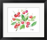 Framed Cherries and Leaves