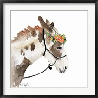 Framed Pony with Floral Crown