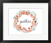 Framed Gather Fall Wreath