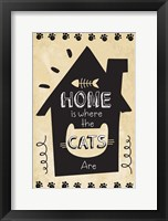 Framed Home is Where the Cats Are