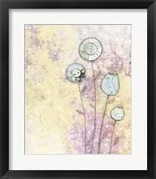 Framed Lavender Floral Abstract