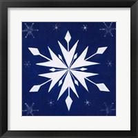 Framed Snowflake Quilt Block