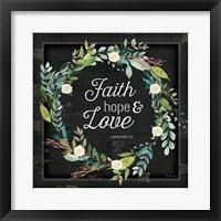 Framed Faith, Hope and Love