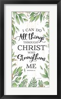 Framed I Can Do All Things Through Christ