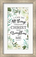 Framed I Can Do All Things Through Christ II