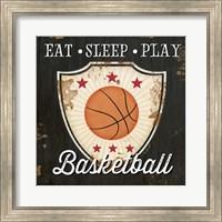Framed Eat, Sleep, Play, Basketball