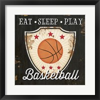 Framed Eat, Sleep, Play, Basketball