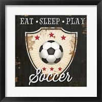 Framed Eat, Sleep, Play, Soccer