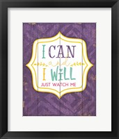 Framed I Can and I Will