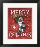 Framed Merry Christmas Stocking
