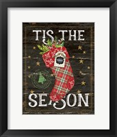 Framed Tis the Season Stocking