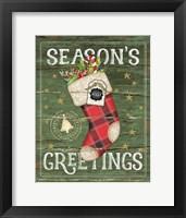 Framed Season's Greetings Stocking