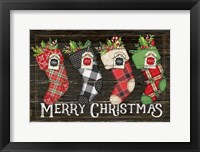 Framed Merry Stockings