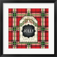 Framed Jolly Christmas Plaid