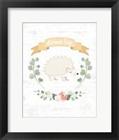 Framed Sweet Little Hedgehog
