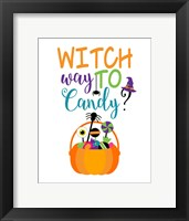 Framed Witch Way to Candy