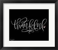 Framed Thankful Black